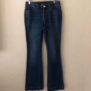Cache Jeans Dark Blue Stretch 6 Flare